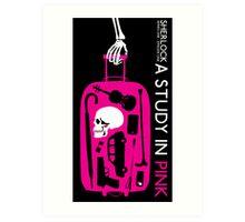 Sherlock - A Study in Pink Episode Poster Art Print