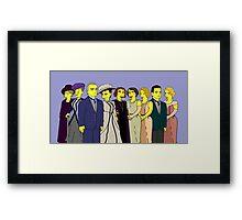 Downton Abbey - Cast of Nine Framed Print