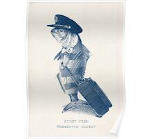 The Pilot (monochrome) Poster
