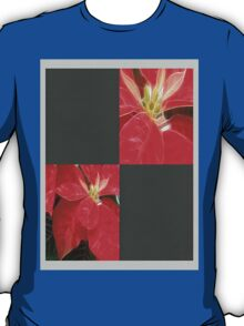 Mottled Red Poinsettia 1 Ephemeral Blank Q6F0 T-Shirt