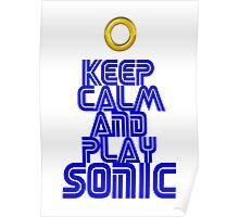 Sega Sonic Tshirt  Poster