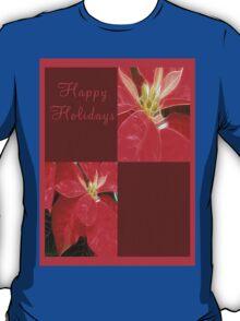 Mottled Red Poinsettia 1 Ephemeral Happy Holidays Q10F1 T-Shirt