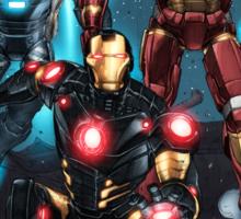 "Iron Man ""Landing"" Superhero Scene by Dheeraj Verma Sticker"