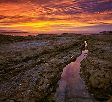 Blackmans Bay Rocks Sunrise #14 by Chris Cobern