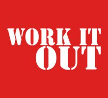 Work It Out (white ink) Workout Tee. Crossfit Tee. Exercise Tee. Weightlifting Tee. Running Tee. Fitness by Max Effort
