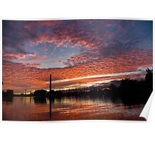 Vivid Skyscape - Summer Sunset at Toronto Beaches Marina Poster