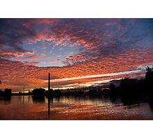 Vivid Skyscape - Summer Sunset at Toronto Beaches Marina Photographic Print