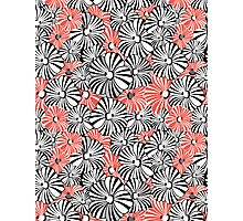 Graphic floral pattern Photographic Print