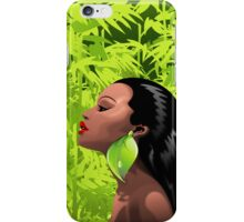 Woman African Beauty and Bamboo iPhone Case/Skin