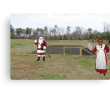 Santa hated the off-season, when it was Mrs. Claus' turn to shout 'Hoe hoe hoe!' Canvas Print
