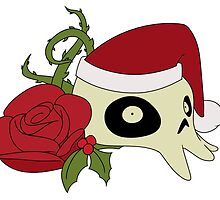Skull and Rose Christmas by CheCrawford