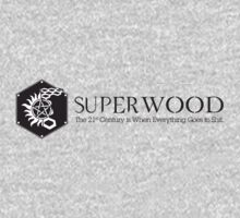 SuperWood 21st Century Tee - Black Logo by jazz4thecaptain