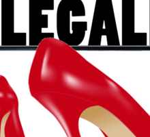 I WISH I COULD ILLEGALLY DOWNLOAD SHOES Sticker