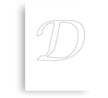 "Calligraphy Letter ""D"" Canvas Print"