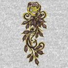 yellow rose tattoo art by resonanteye