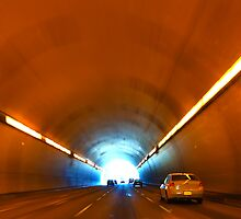 Driving into the road tunnel by creativedesignz