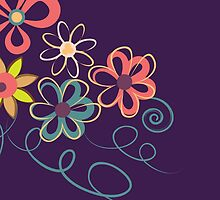 Floral background for design  by Luiza777