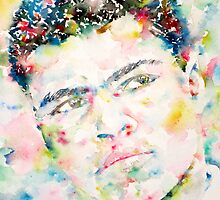 MUHAMMAD ALI - watercolor portrait by lautir
