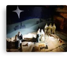 The Nativity Scene  Canvas Print