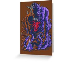 Demon and Child Greeting Card