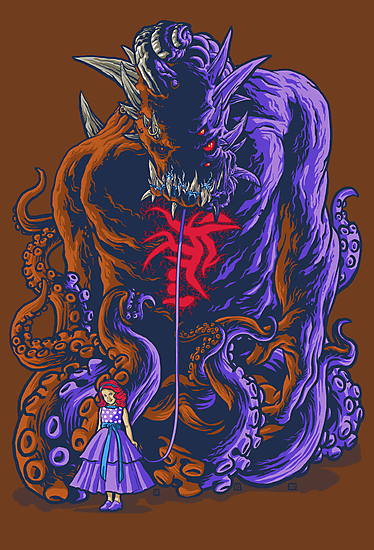 Demon and Child by cs3ink