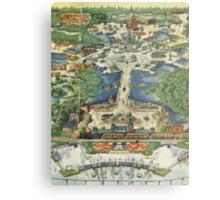 Vintage National Geographic Disneyland Map Metal Print