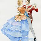 The couple is dancing at the ball by Natasha Tabatchikova