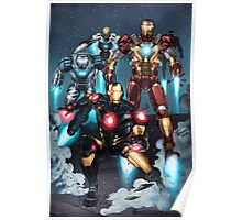 "Iron Man ""Landing"" Superhero Scene by Dheeraj Verma Poster"