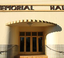 Art Deco Memorial Hall, Lockhart by Jane McDougall