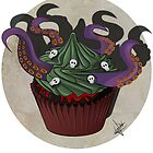 Octopus Cupcake by LauraJoanna