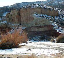 Snow Desert Wash by BrianAShaw