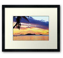 Secret Harbor Sunset Framed Print