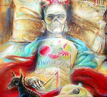 'Frida- Viva la Vida- by artist Heather Calderon by Heather Calderon