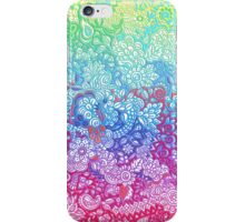 Fantasy Garden Rainbow Doodle iPhone Case/Skin