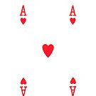 Smartphone Case - Ace of Hearts by Mark Podger