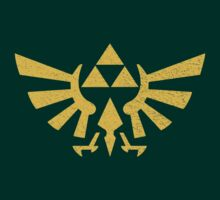 Triforce Zelda Symbol Distressed by doodlemarks