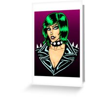 Punk Rock Chick Greeting Card