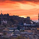 Edinburgh Castle at Sunset by PhilipCormack