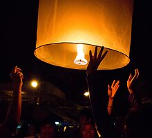 Candle Lantern - new year celebration at Thailand by vishwadeep  anshu