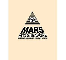 MARS INVESTIGATIONS Photographic Print