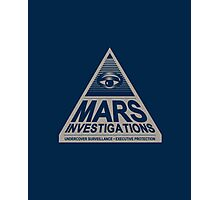 MARS INVESTIGATIONS - BLUE Photographic Print