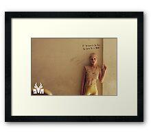 """Die Antwoord poster """"IF U WANNA B RICH"""" Framed Print"""