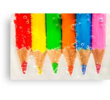 Underwater Pencils Canvas Print