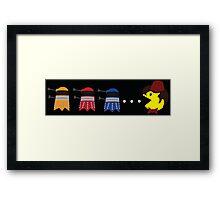 Doctor Pacman Framed Print