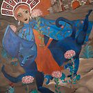 Agia Eleni and the Blue Cat by zoequixote