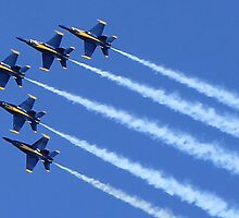 Blue Angels Delta Formation by DavidHilgart