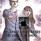 an apple a day keeps the doctor (who) away version 2 by LokiLaufeysen