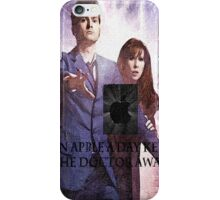 an apple a day keeps the doctor (who) away version 6 iPhone Case/Skin
