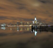 Lower Manhattan On The Hudson Rv. by pmarella