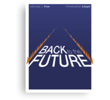 Minimalist Back to the Future Poster Canvas Print
